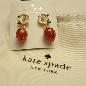 Picnic Perfect Strawberry Drop Earrings Kate Spade